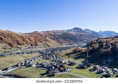 Autumn in Valtellina, alpine village of Livigno