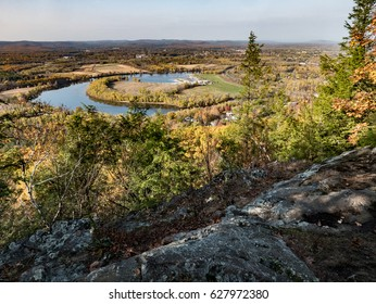 Autumn View of Connecticut River Oxbow from the Metacomet-Mondanock Trail