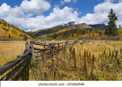 Autumn view of Engineer Mountain near Durango, Colorado.