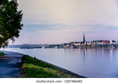 Lubeck-Travemünde in autumn with a view of the front row and fe