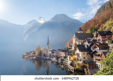 Autumn view Of Hallstatt village, Hallstatt, Austria