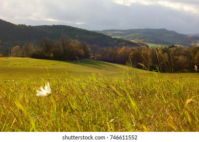 Autumn view of landscape, countryside Czech Republic.