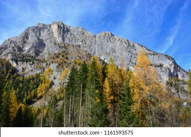an autumn view from Malga Ciapela to the Marmolada mountain