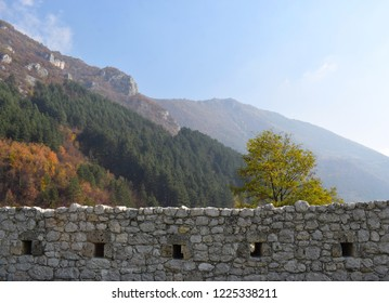 Autumn view o from ancient fortess in Travnik,Bosnia and Herzegovina
