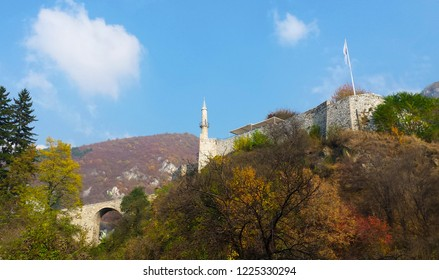 Autumn view on ancient fortress in Travnik,Bosnia and Herzegovina