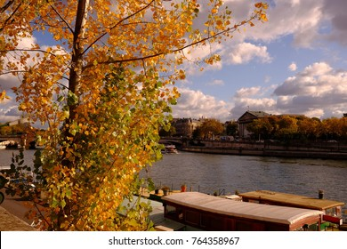 The autumn view in Paris, France