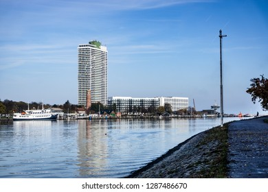Lubeck-Travemünde in autumn with views of the new apartments an