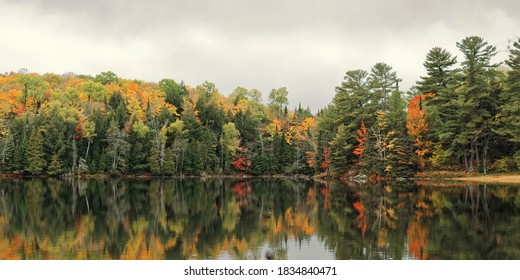 Autumn views in Silent Lake Provincial Park, in Northeast Ontario, near the town of Bancroft
