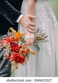 Autumn Wedding Session in Forest