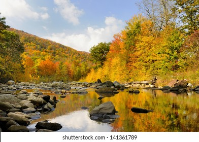 Autumn in West Virginia Along Mountain Stream