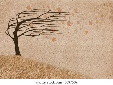 autumn wind collage
