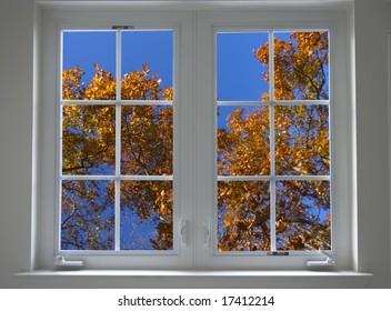 autumn window closed