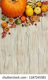 Autumn wood background