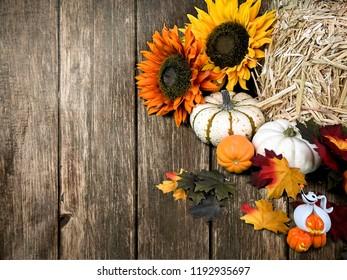 Autumn Wooden Flower Background