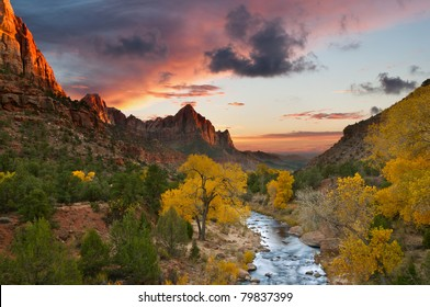 Autumn in Zion National Park, Utah.