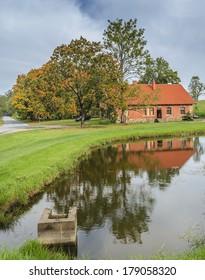 Autumnal countryside landscape, Sigulda, Latvia, Europe