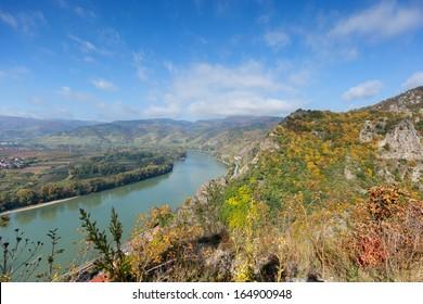 Autumnal Danube Valley in Wachau; Austria - Shutterstock ID 164900948