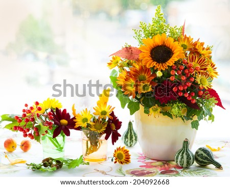 Autumnal flowers
