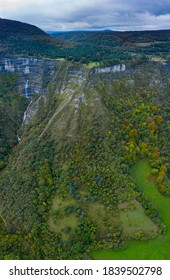 Autumnal landscape around San Miguel waterfall in the Angulo Valley within the Mena Valley municipality in the Merindades region of the province of Burgos in Castilla y Leon of Spain, Europe - Shutterstock ID 1839502798