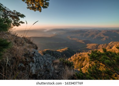 Autumnal morning at Cozia Mountains National Park. 27 October 2019 Cozia, Oltenia, Romania