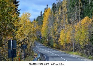 Autumn.Road Kandalaksha-Umba.
