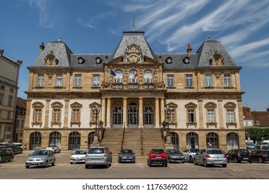 AUTUN / FRANCE - JULY 2015: Place in front of Hotel De Ville in the centre of Autun town, France