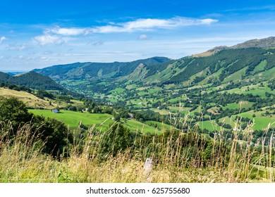 Auvergne volcanoes valley
