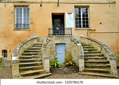Auvers sur Oise; France - september 30 2018 : the Daubigny museum in the Colombieres manor