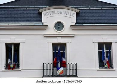 Auvers sur Oise; France - september 30 2018 : the city hall