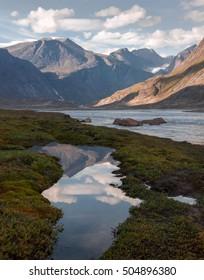 Auyuittuq National Park scenery, Nunavut, Canada.