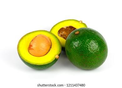 Avacado fruit isolated on white background
