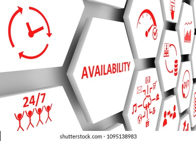 Availability concept cell background 3d illustration