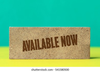 Available Now, Business Concept