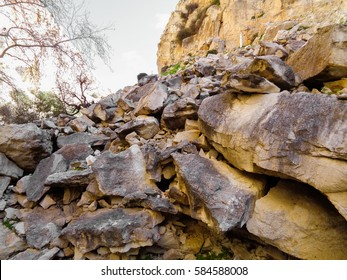 Avakas Gorge. Wild authentic nature of Cyprus island