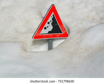 Avalanches risk sign. Abstract concept