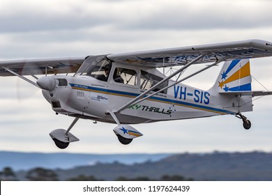 Avalon, Australia - February 27, 2013: American Champion 8KCAB-180 Super Decathlon single engine aerobatic aircraft VH-SIS.