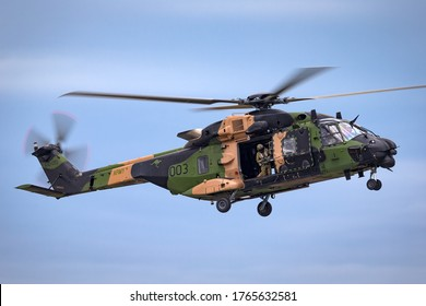 Avalon, Australia - February 28, 2015: MRH-90 Taipan multirole military helicopter jointly operated by the Australian Army and Navy.
