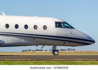 Avalon, Australia - March 3, 2013: Gulfstream Aerospace G280 twin-engine luxury business jet aircraft N280GD.
