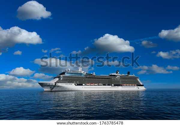 AVALON, CALIFORNIA - November 17, 2019: Royal Caribbean operate over 25 ships and owns Celebrity Cruise Lines