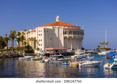 AVALON, CALIFORNIA, USA - JUNE 21, 2009: Casino in Avalon Bay harbor, Santa Catalina Island