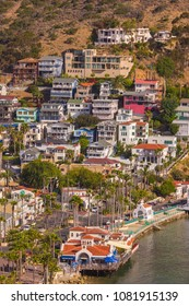 AVALON, CALIFORNIA, USA - JUNE 21, 2009: Houses in town of Avalon, Santa Catalina Island