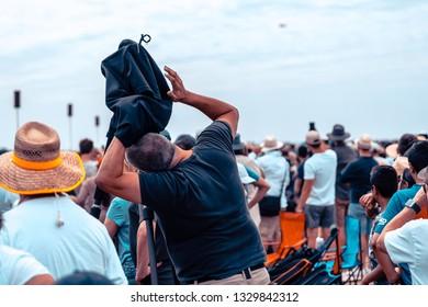 Avalon, Melbourne, Australia - Mar 3, 2019: Photographer at the airshow