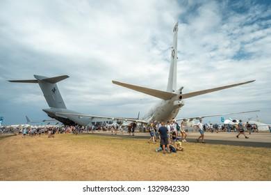Avalon, Melbourne, Australia - Mar 3, 2019: Military cargo planes