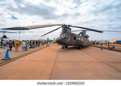 Avalon, Melbourne, Australia - Mar 3, 2019: Military helicopter