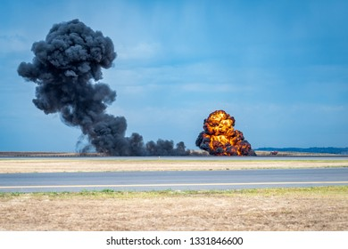 Avalon, Melbourne, Australia - Mar 3, 2019: Explosions at the Avalon airshow