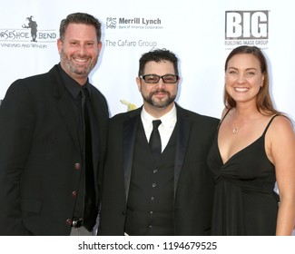 AVALON - SEP 29:  Aaron Goldberg, Ron Truppa, Jessica Schreiner at the Catalina Film Festival - Saturday Red Carpet at the Casino on September 29, 2018 in Avalon, CA