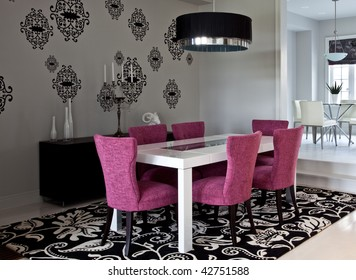 Avant garde looking dining room