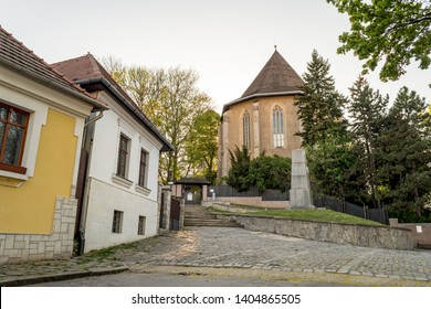 Avas Reformed Church on Avas Hill in Miskolc, Hungary. The church is the oldest building of the city center of Miskolc