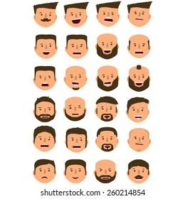 Avatars faces of men