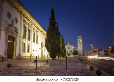 Aveiro city cathedral by night in Portugal